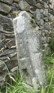 Cross-marked stone at MacNab burial ground, Suie (1)