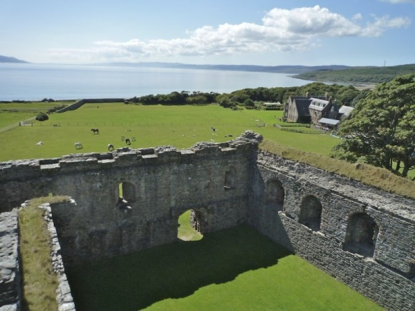 Skipness Castle - view from roof