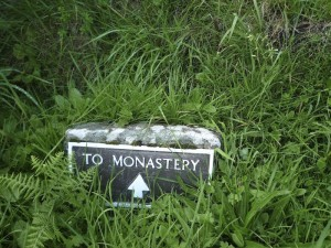 Monastery sign