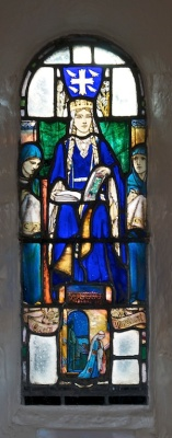 St Margaret, depicted in a window of St Margaret's Chapel, Edinburgh Castle