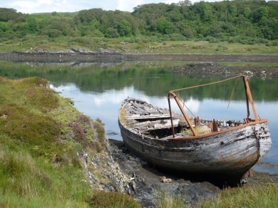 Wreck at Puilladobhrain on Seil Island