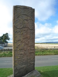Reverse of roadside cross slab