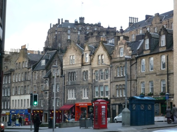 Grassmarket, with the Castle beyond