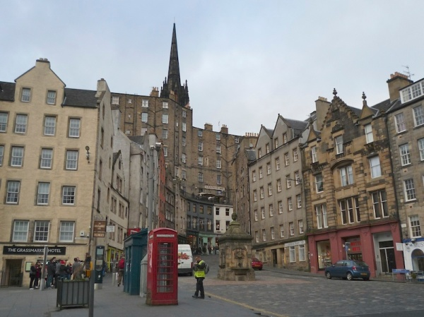 Looking up West Bow from Grassmarket