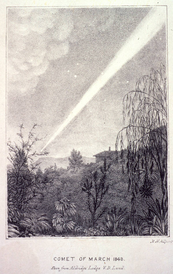 Great Comet of 1843 by  Mary Morton Allport, via Wikimedia Commons
