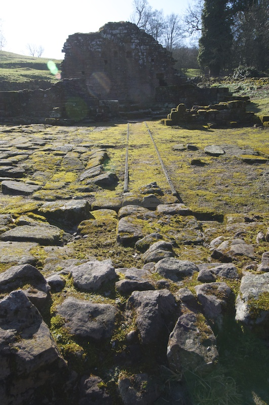 Foundations of buildings; does anyone know what these parallel lines are?