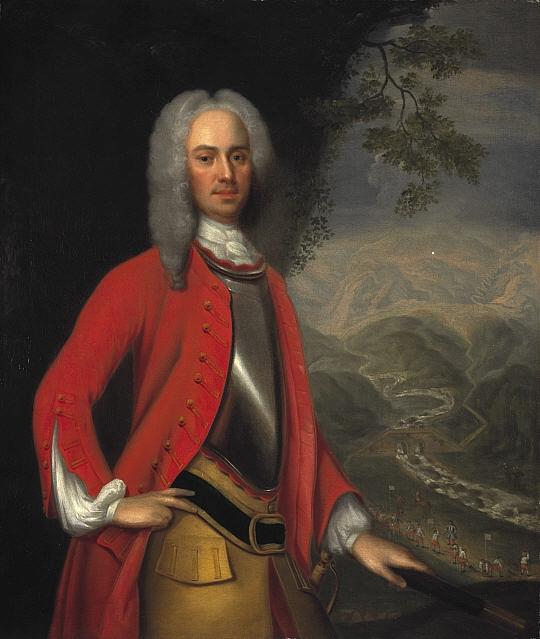 George Wade at Corrieyairack Pass, by Johan van Diest; via Wikimedia Commons