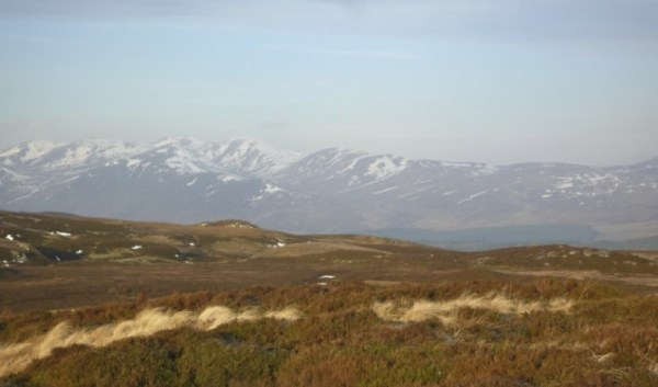 The mountains of Tayside;  would you fancy building a road through there?