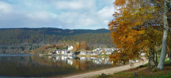 Kenmore in Perthshire, with autumn beeches