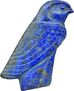 Egyptian hawk carving, from 1450 and 1185 BC. From Walters Art Museum, via Wikimedia Commons