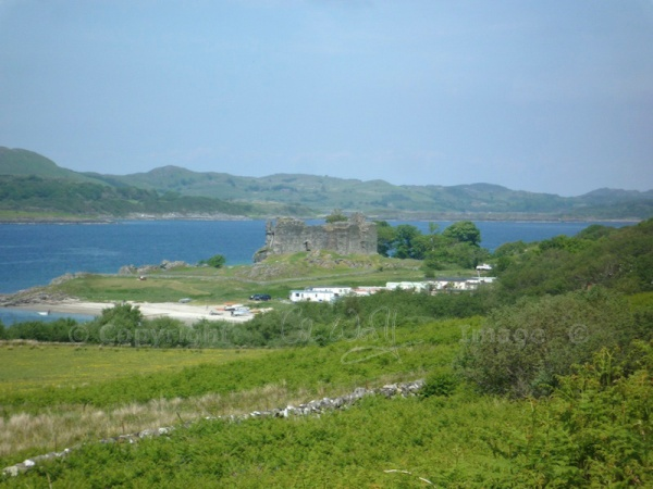 A caravan park now sits at the foot of the castle.  The grounds are well maintained.