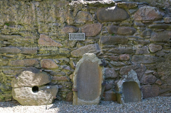 Quern stones in kitchen area
