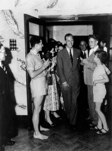 The Duke of Edinburgh in Brisbane, Australia (1954) courtesy State Library, Queensland via Wikimedia