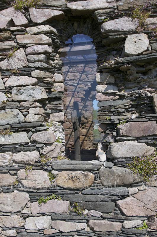 Kilmory Knap - window and MacMillan's Cross