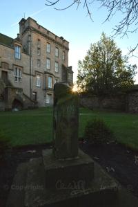 The Douglas Garden, scene of the murder of the 8th Earl of Douglas by James II in 1452