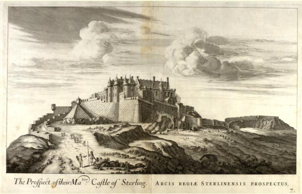 An old engraving of Stirling Castle