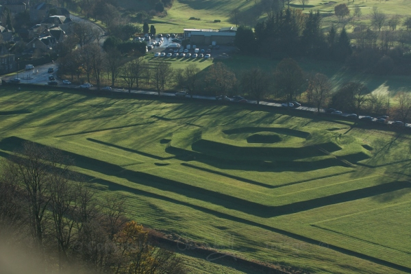The King's Knot below the castle, once a pleasure garden for royals