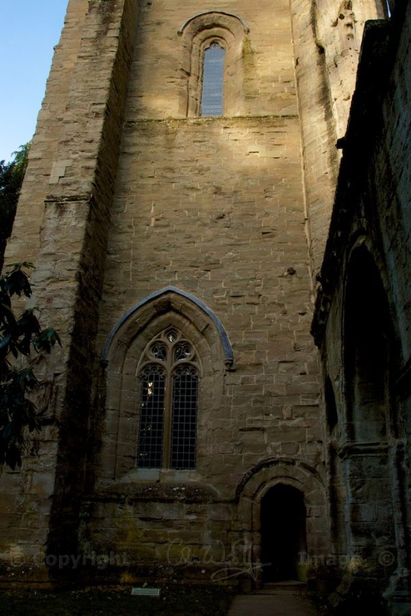 The tower.  The small door leads to a room with an exhibition of carved stones