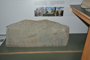 Pictish carving of a man on horseback (on the right of the stone)