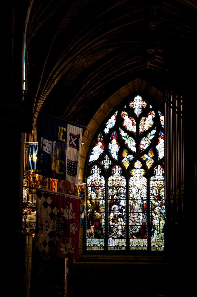 Banners  and stained glass
