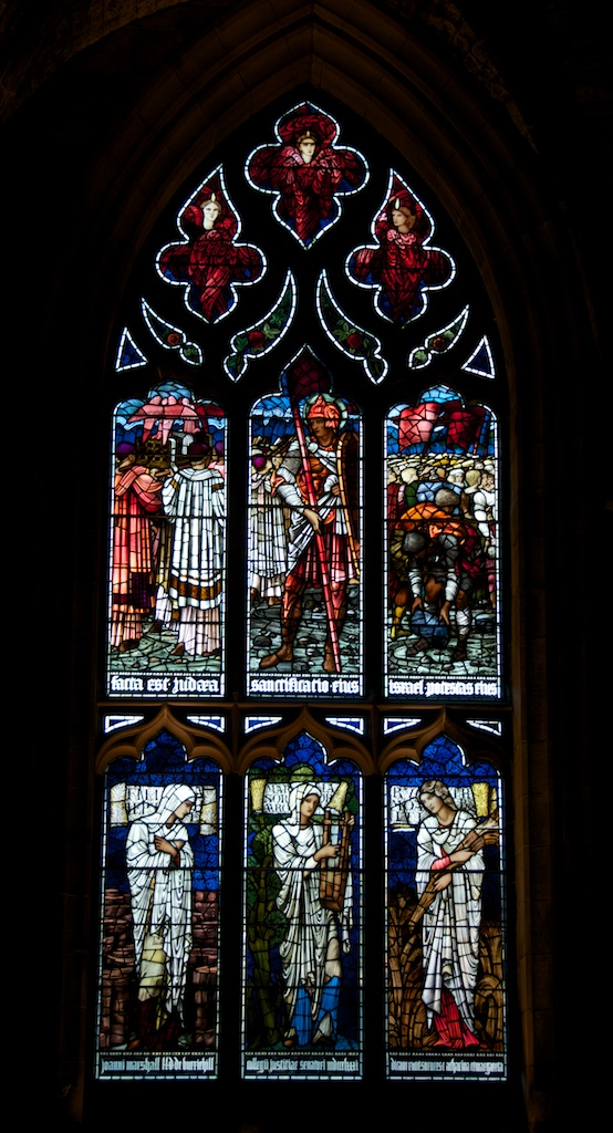 Window by Edward Burne-Jones, showing the crossing of the Jordan