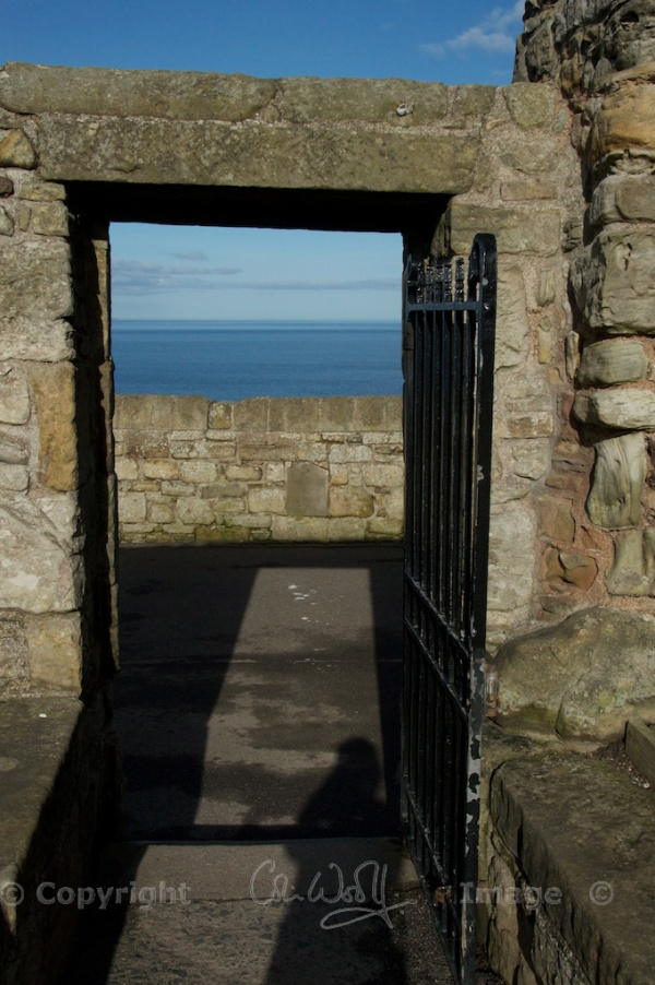 Door in the grounds, leading to the seafront
