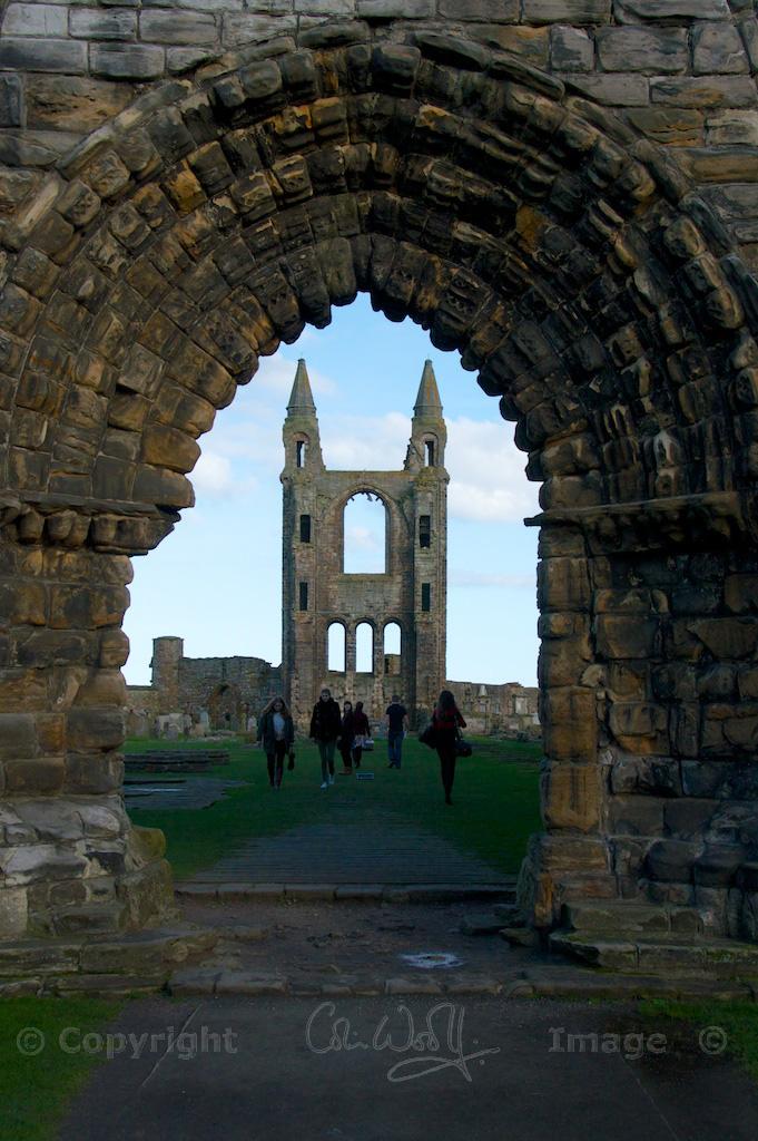 Looking through the west door towards the east wall