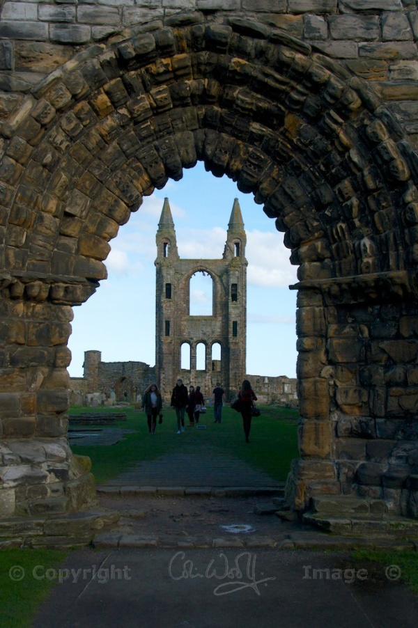 Looking through the west door towards the east wall