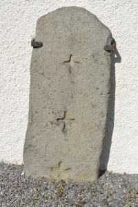 Stone engraved with three crosses