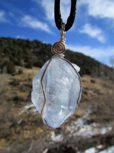 Celestine pendant, courtesy of Sequoia's Roots on Etsy