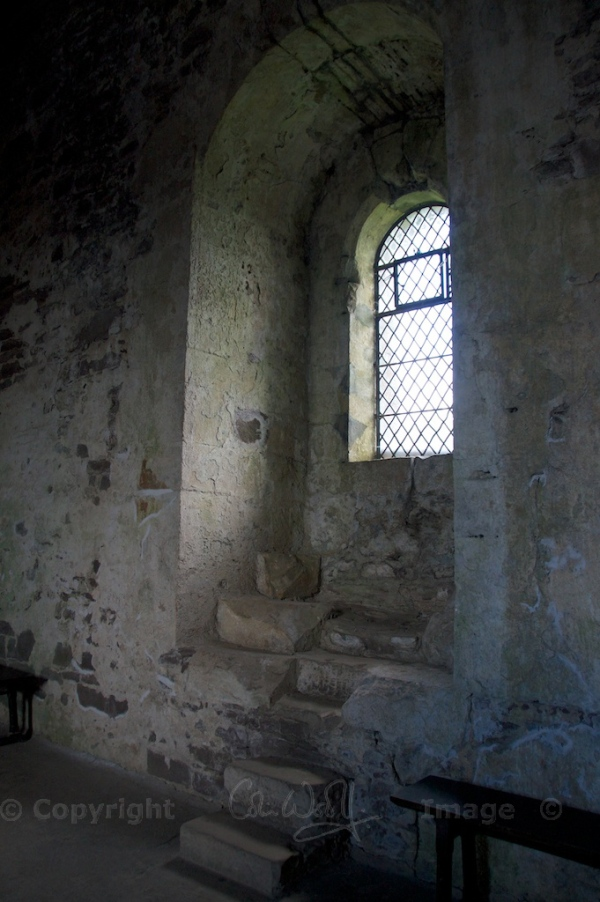 Does this window look familiar?  The 'Knights of the Round Table' were standing here in the Monty Python sketch!