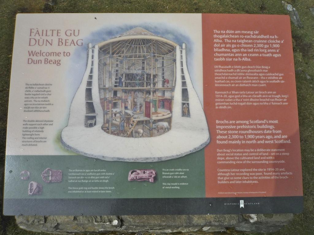 Information board at Dun Beag