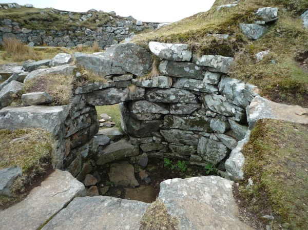 Small round cavity, possibly a guard chamber, at Dun Beag