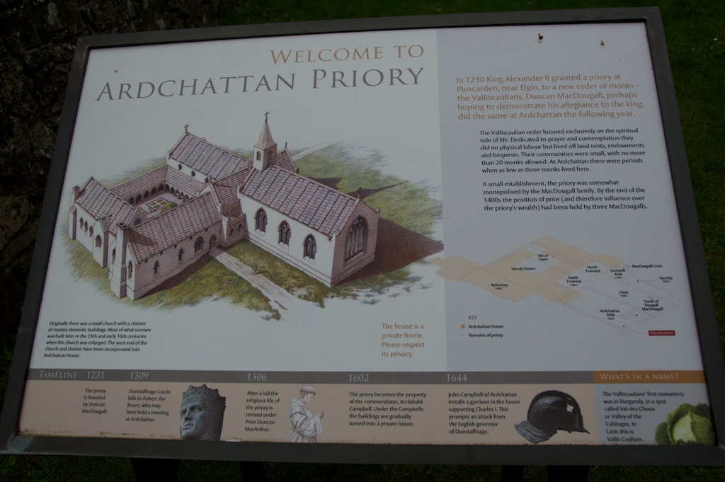 Historic Scotland sign, showing the original layout