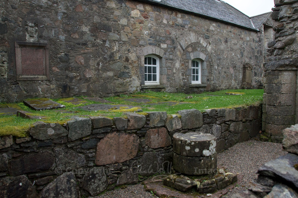 The south transept. See the traces of old archways on the farmhouse wall