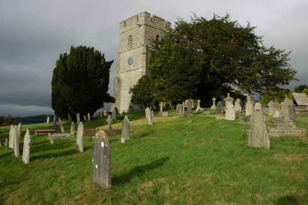 Old Radnor Church, which Watkins says was traditionally a beacon church, by Philip Halling via Wikimedia
