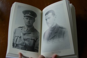 Photos of Home Peel (left) and Captain Eric Gore Browne. Home Peel died in 1918 near Longueval. Gore Browne survived the war but never forgot his comrades; he died in 1964.