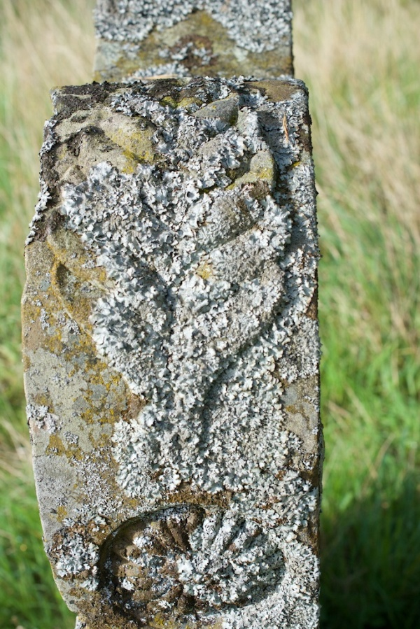 Shoulder of gravestone