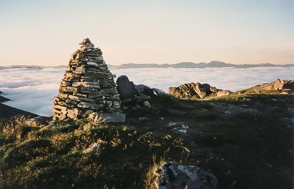 Ben Nevis above inversion from Gleouraich