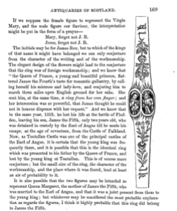 Page from Proceedings of Society of Antiquaries of Scotland, 1852 (click to enlarge)