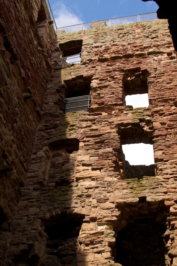 The third window up on the left is the famous 'ghost' window.