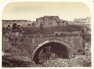 19th century photograph by Sgt James M McDonald of the gate to the Hospital of the Knights of St John, Jerusalem (wikimedia)