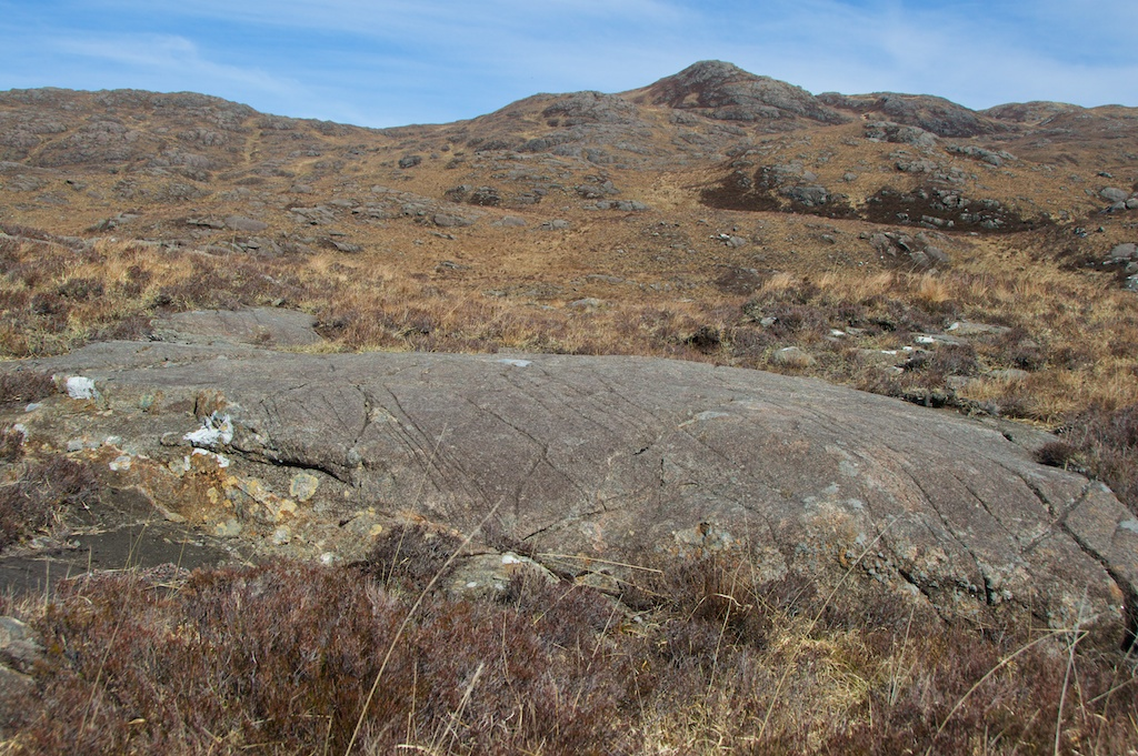 Volcanic rocks showing glacial striations