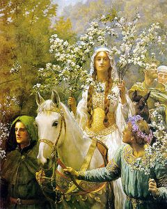 'Queen Guinevere's Maying' by Collier (1900) Cartwright Hall Gallery, Bradford
