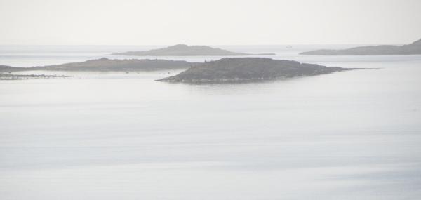 View from Keills - the MacCormaig Isles