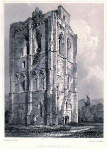 Campuskenneth Abbey from 'The Baronial and Ecclesiastical Antiquities of Scotland' by R W Billings, 1908