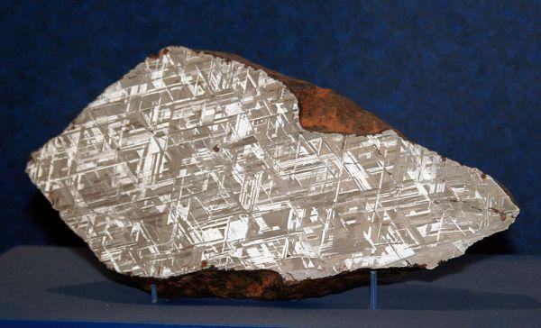 The Alvord meteorite, found in Iowa in 1976; image via Wikimedia