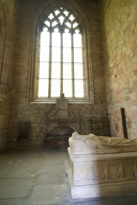 Tombs in one of the transepts