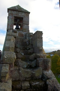 Belfry with worn steps